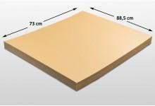 40x Kartonplatte 730 x 885 mm Braun Weiß Palettenzwischenlage Wellpappe Zuschnitt f Palette