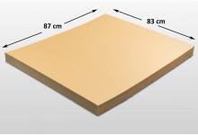 25x Kartonplatte 830 x 870 mm Palettenzwischenlage Wellpappe Zuschnitt für Palette