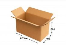 10x Faltkarton Versandkarton Stärke 5 mm doppelwellig 675 x 405 x 305 mm