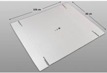 10x Kartonplatte 860 x 1050 mm Weiß Palettenzwischenlage Wellpappe Zuschnitt Restposten