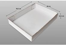 10x Ordnungsbox Kartonbox offen Verkaufsbox Schachtel 785 x 580 x 125 mm Weiß