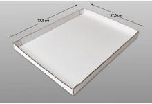 20x Ordnungsbox Kartonbox offen Verkaufsbox Schachtel 575 x 775 x 55 mm Weiß