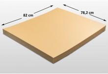 25x Kartonplatte 782 x 820 mm Palettenzwischenlage Wellpappe Zuschnitt f Palette