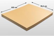 25x Kartonplatte 785 x 1020 mm Palettenzwischenlage Wellpappe Zuschnitt f Palette