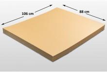 20x Kartonplatte 880 x 1060 mm Palettenzwischenlage Wellpappe Zuschnitt f Palette Versand