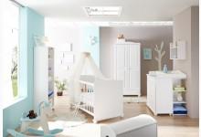 5tlg. Babyzimmer Mod.888624 Kiefer Weiss