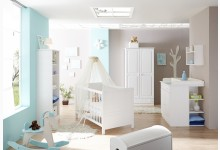 5tlg. Babyzimmer Mod.888648 Kiefer Weiss