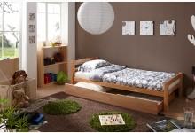 Einzelbett 90x200 mit Schubkasten Mod.894489 Buche Natur