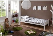 Einzelbett 90x200 Mod.890443 Buche Weiss
