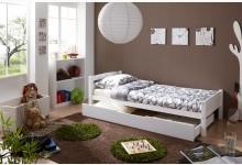 Einzelbett 90x200 mit Schubkasten Mod.894496 Buche Weiss