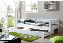 Einzelbett 90x200 mit Schubkasten Mod.894472 Buche Weiss