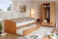 Sofabett mit Auszug Mod.890603 Buche Natur
