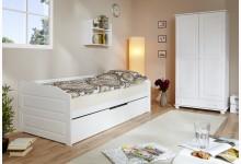 Sofabett mit Auszug Mod.890627 Buche Weiss
