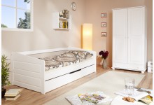 Sofabett mit Auszug Mod.890658 Buche Weiss