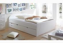 Doppelbett 180x200 mit Schubkästen Mod.880703 Kiefer Weiss