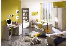 Jugendzimmer Mod.877741 Sonoma Eiche - Weiss