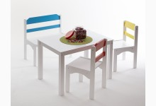 4tlg. Tischgruppe für Kinder Mod.889263 Kiefer Weiss