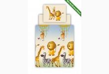 Bettwäsche Set inkl. Spannbettlaken Mod.877956 Motiv Safari