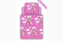 Bettwäsche Set inkl. Spannbettlaken Mod.877956 Motiv Prinzessin Pink