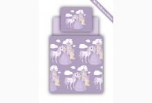 Bettwäsche Set inkl. Spannbettlaken Mod.877949 Motiv Prinzessin Lila
