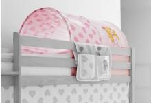 Tunnel für Hoch- und Etagenbetten Mod.809636 Rosa - Pink - Prinzessin-Motiv