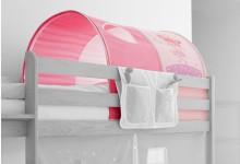 Tunnel für Hoch- und Etagenbetten Mod.809513 Rosa - Pink - Zauberfee-Motiv