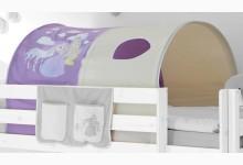 Tunnel für Hoch- und Etagenbetten Mod.857491 Lila - Prinzessin-Motiv
