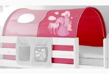 Tunnel für Hoch- und Etagenbetten Mod.857507 Pink - Prinzessin-Motiv