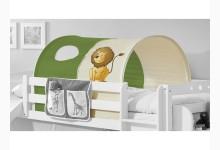 Tunnel für Hoch- und Etagenbetten Mod.886736 Grün - Safari-Motiv