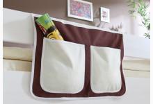 Bett-Tasche für Hoch- und Etagenbetten Mod.809544 Braun - Beige