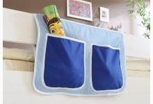 Bett-Tasche für Hoch- und Etagenbetten Mod.809605 Hellblau - Dunkelblau