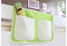 Bett-Tasche für Hoch- und Etagenbetten Mod.834515 Beige - Grün