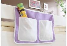 Bett-Tasche für Hoch- und Etagenbetten Mod.809568 Beige - Lila
