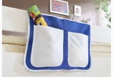 Bett-Tasche für Hoch- und Etagenbetten Mod.850232 Blau - Weiss