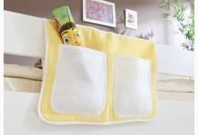 Bett-Tasche für Hoch- und Etagenbetten Mod.850249 Gelb - Weiss