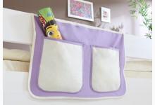 Bett-Tasche für Hoch- und Etagenbetten Mod.850256 Lila - Weiss