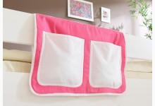 Bett-Tasche für Hoch- und Etagenbetten Mod.850263 Rosa - Weiss
