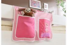 Bett-Tasche für Hoch- und Etagenbetten Mod.809599 Rosa - Zauberfee-Motiv