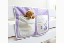 Bett-Tasche für Hoch- und Etagenbetten Mod.871145 Lila - Prinzessin-Motiv