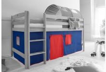2-tlg. Vorhangstoff Classic Mod.800985 Blau - Rot