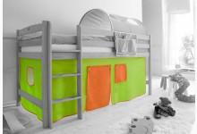 2-tlg. Vorhangstoff Classic Mod.800992 Grün - Orange