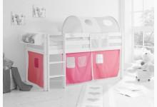 3-tlg. Vorhangstoff Classic Mod.858283 Rosa - Pink