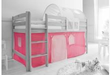 2-tlg. Vorhangstoff Classic Mod.801005 Rosa - Pink