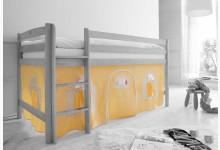 2-tlg. Vorhangstoff Landhaus Mod.836694 Gelb - Weiss