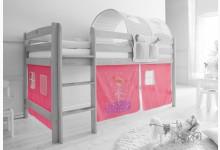 3-tlg. Vorhangstoff Mod.801265 Rosa - Zauberfee-Motiv