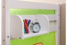Einhängeregal für Hoch- und Etagenbett klein Mod.805997 Kiefer Weiss