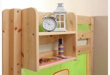 Einhängeregal für Hoch- und Etagenbett klein mit 2 Böden Mod.813527 Kiefer Natur