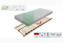 Set Lattenrahmen + Matratze Ti-Flex Classic Med Mod.888723 Birke Braun - Weiss