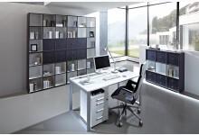 7tlg. Arbeits- & Bürozimmer Mod.GM687 Anthrazit - Weiss