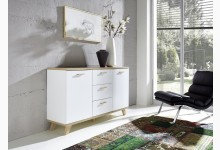 Sideboard - Kommode Mod.GM691 Weiss - San Remo Eiche